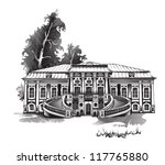 Old manor house - stock vector