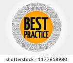 best practice circle word cloud ... | Shutterstock . vector #1177658980