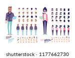 programmers. front  side ... | Shutterstock .eps vector #1177662730
