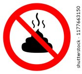 no poop sign  no fouling ... | Shutterstock .eps vector #1177663150