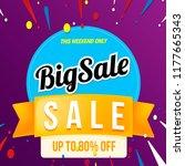 big sale banner blue | Shutterstock .eps vector #1177665343