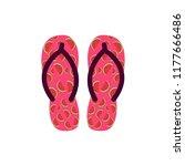 pair of colorful flip flops... | Shutterstock . vector #1177666486