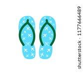pair of colorful flip flops... | Shutterstock . vector #1177666489