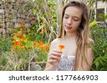 beautiful young nordic teenager ... | Shutterstock . vector #1177666903