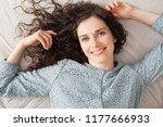 over head portrait of beautiful ... | Shutterstock . vector #1177666933