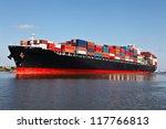 cargo ship at the port | Shutterstock . vector #117766813
