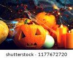 preparing for halloween ... | Shutterstock . vector #1177672720