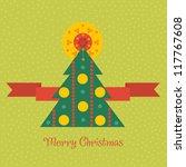 christmas greeting card | Shutterstock .eps vector #117767608