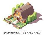 vector isometric kindergarten... | Shutterstock .eps vector #1177677760