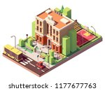 vector isometric small school... | Shutterstock .eps vector #1177677763