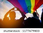 Pride community at a parade...