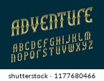 adventure golden alphabet.... | Shutterstock .eps vector #1177680466