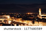 panoramic view of florence at... | Shutterstock . vector #1177680589