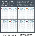 calendar 2019 set   english ... | Shutterstock .eps vector #1177681870