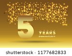 5th anniversary gold numbers.... | Shutterstock .eps vector #1177682833