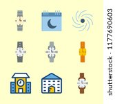 time vector icons set.watch ... | Shutterstock .eps vector #1177690603