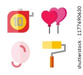 4 idea icons set | Shutterstock .eps vector #1177690630