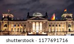 the reichstag building ... | Shutterstock . vector #1177691716