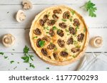 homemade quiche pie with...   Shutterstock . vector #1177700293
