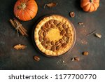 Pumpkin And Pecan Pie With...