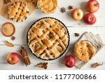 homemade apple pies on white... | Shutterstock . vector #1177700866
