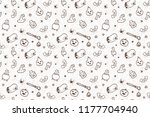 pattern on a halloween holiday. ...   Shutterstock .eps vector #1177704940