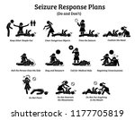 what to do during a seizure.... | Shutterstock . vector #1177705819