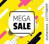 mega sale banner | Shutterstock .eps vector #1177708099