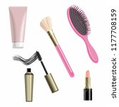 vector set of isolated cosmetic ... | Shutterstock .eps vector #1177708159
