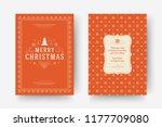 christmas greeting card design... | Shutterstock .eps vector #1177709080
