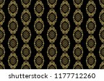 seamless floral ornament on... | Shutterstock .eps vector #1177712260