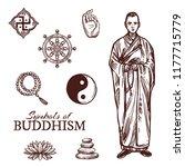 buddhism religion sketch... | Shutterstock .eps vector #1177715779