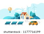 concept of eco friendly... | Shutterstock .eps vector #1177716199
