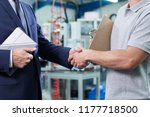 close up of business owner with ... | Shutterstock . vector #1177718500