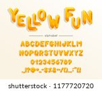 vector yellow fun font and... | Shutterstock .eps vector #1177720720