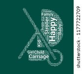 baby carriage word cloud. word... | Shutterstock .eps vector #1177722709