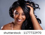 glamour african american beauty ... | Shutterstock . vector #1177722970