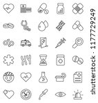 thin line vector icon set  ... | Shutterstock .eps vector #1177729249