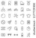 thin line vector icon set  ... | Shutterstock .eps vector #1177729300