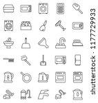 thin line vector icon set  ... | Shutterstock .eps vector #1177729933