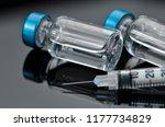 tuberculin syringe and sterile... | Shutterstock . vector #1177734829
