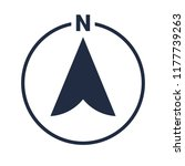north arrow icon in circle or n ... | Shutterstock .eps vector #1177739263