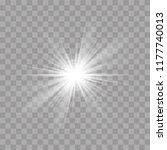 light rays sun or star shine... | Shutterstock .eps vector #1177740013