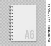 notepad blocknote or paper... | Shutterstock .eps vector #1177740763