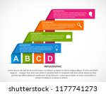 abstract options infographics... | Shutterstock .eps vector #1177741273