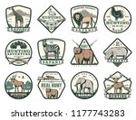 hunting club icons of wild... | Shutterstock .eps vector #1177743283