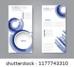 vector narrow flyer and leaflet ... | Shutterstock .eps vector #1177743310