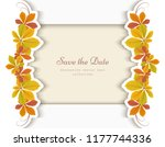 autumn background  cutout paper ... | Shutterstock .eps vector #1177744336