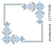 cross stitching embroidery in... | Shutterstock .eps vector #117774538