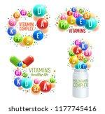 vitamins and multivitamin... | Shutterstock .eps vector #1177745416